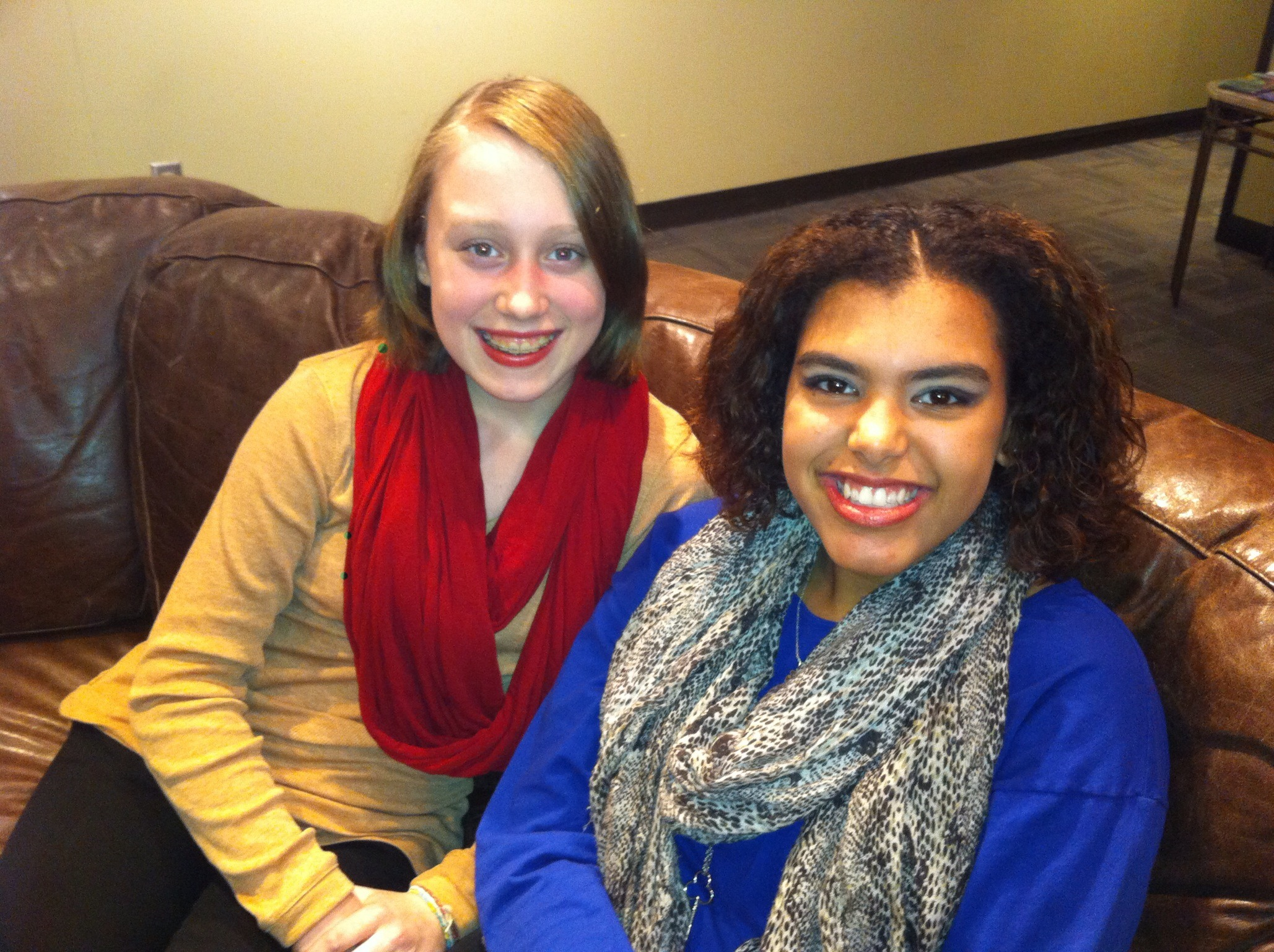 Morgana McKenzie and Naya Weiler in the Green Room of Rogers Daytime Ottawa