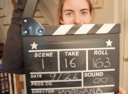 Production Still - Laura operating the clapper
