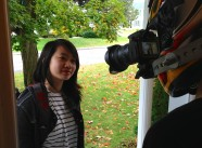 Rebecca Tsang and Morgana McKenzie - Filming the POV sequence