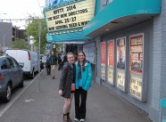 Morgana and Laura outside SIFF Cinema