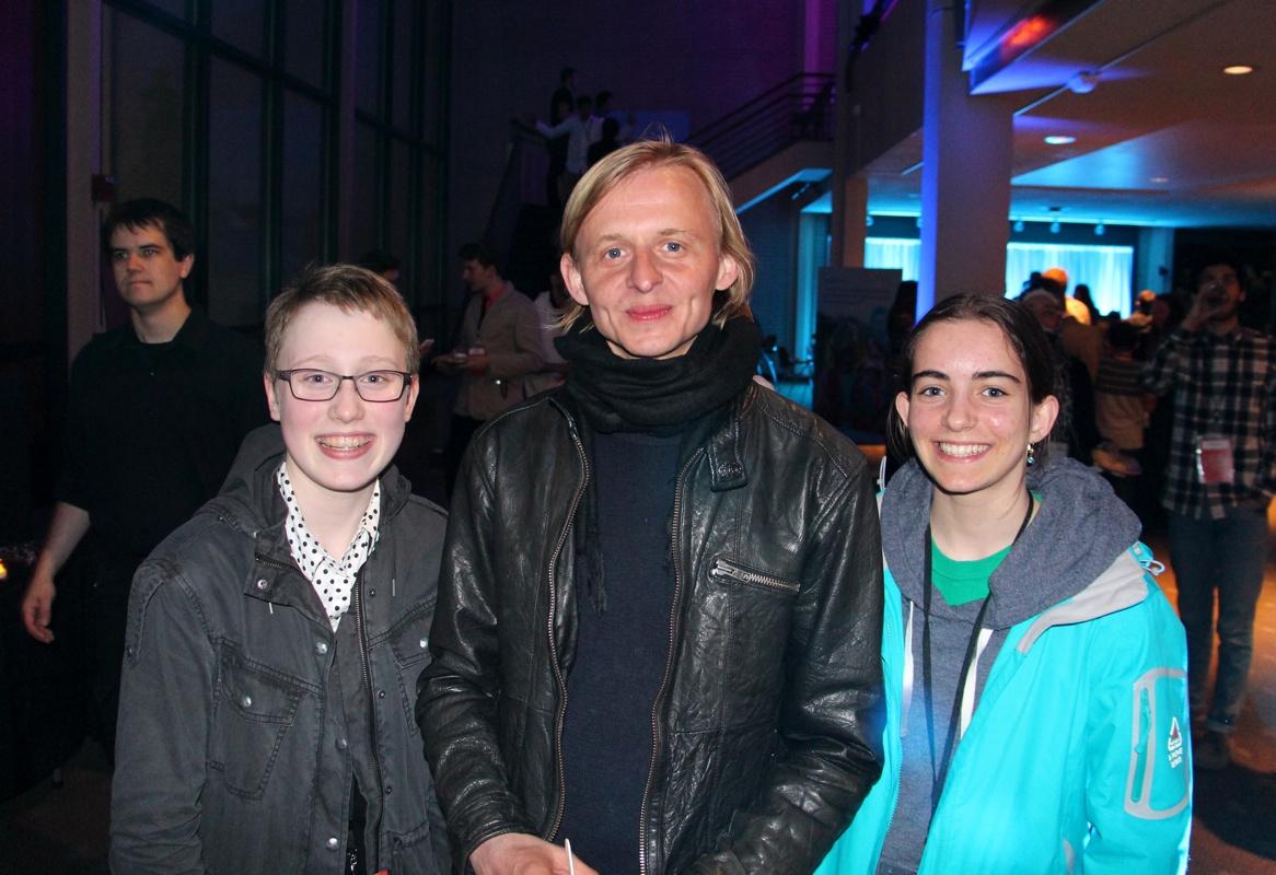 Danish filmmaker Kræsten Kusk with Morgana and Laura