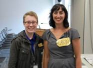 2014 CineYouth - Morgana with Academy Award Winning producer Caryn Capotosto