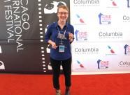 2014 CineYouth - Morgana with her award