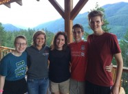Group photo with NFFTY alumni! (L-R) Morgana McKenzie, Ruby Drake, Stefanie Malone, Ethan Seneker, Adam McArthur