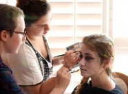Morgana, Julia, and Rose - Working on makeup
