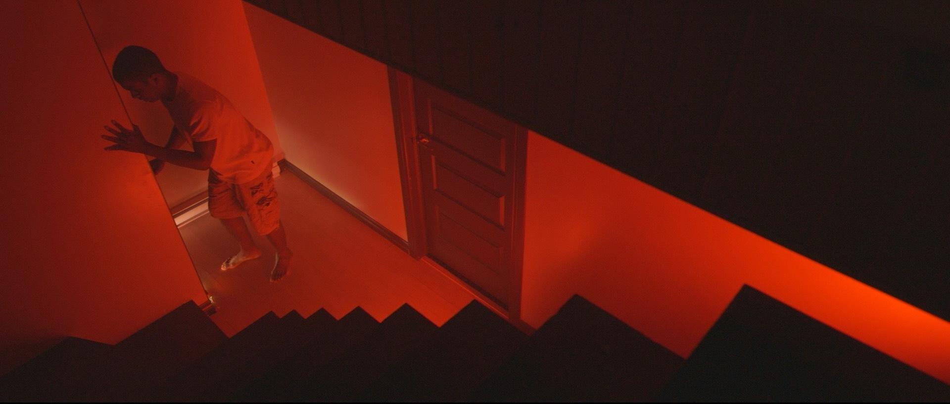 "Actor Sebastian Labissiere in a still from the short film ""Ellie"""