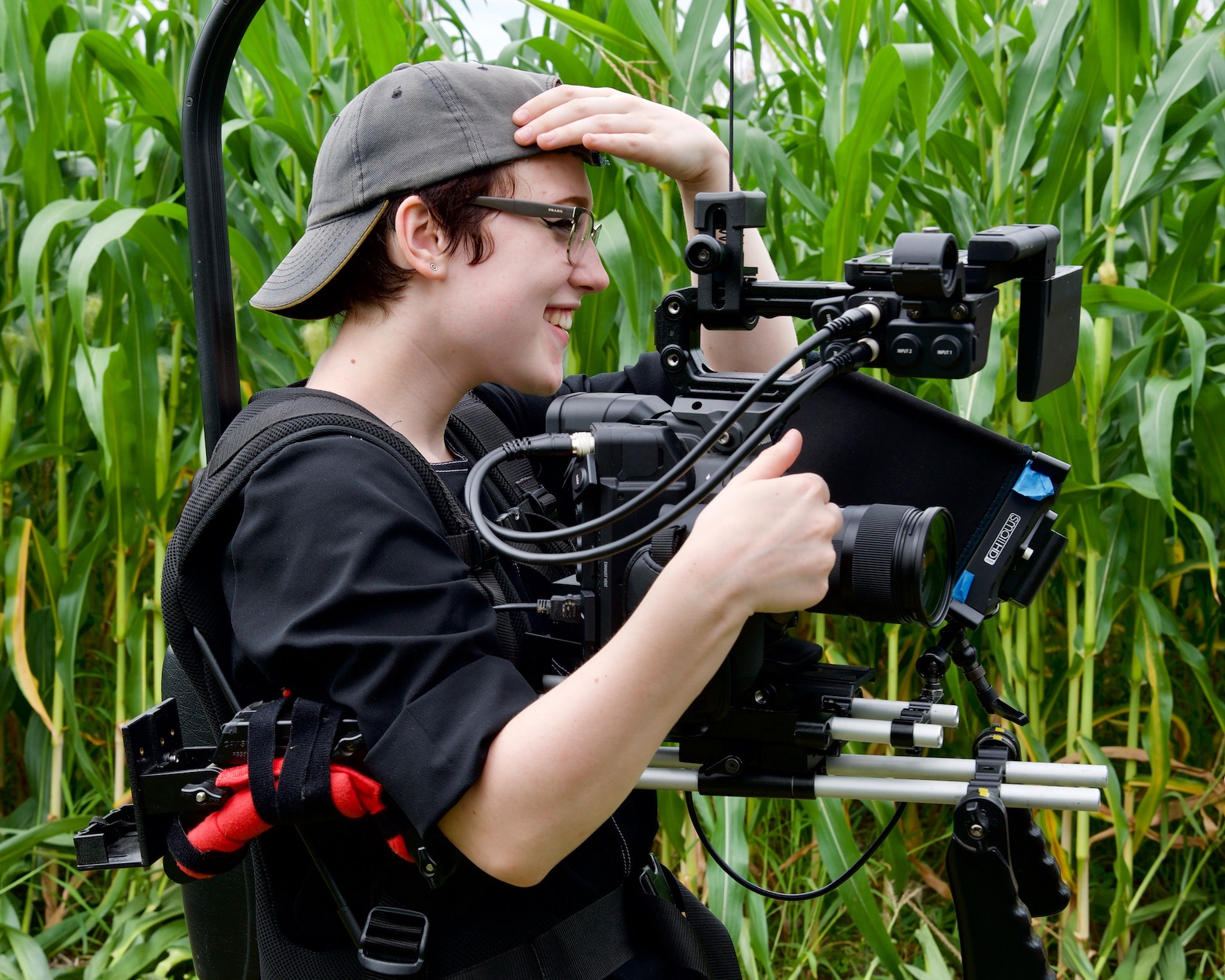 "Morgana shooting ""Indomptable (Wild)"". Photo credit: Susie Shapiro."